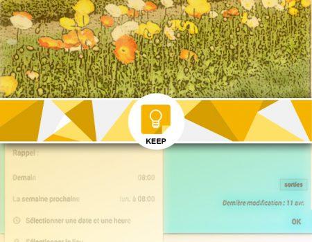 Les fonction avancées : partager une note sous keep et des rappels