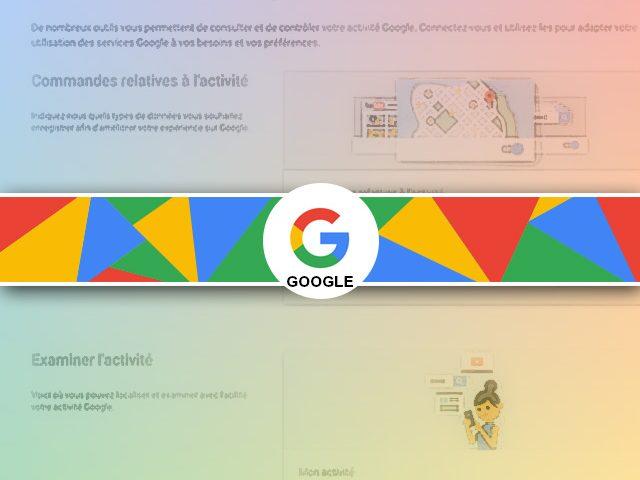Activité Google et la protection de la vie privée