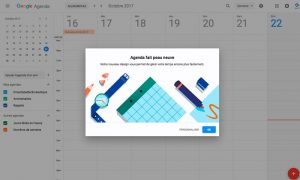 Nouvelle interface agenda google