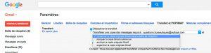 Activer dans Gmail une redirection d'adresse mail