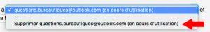 Supprimer une adresse de transfert sous gmail.