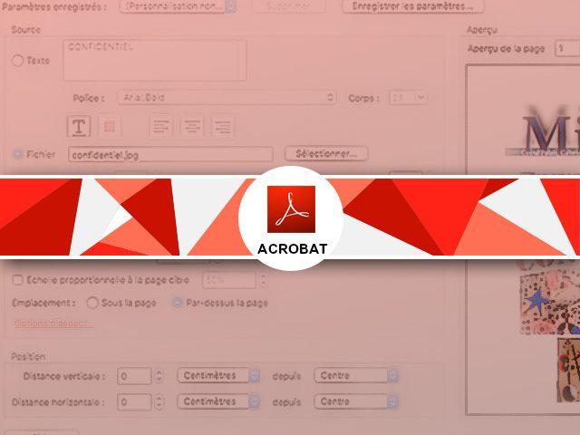 Comment ajouter un filigrane à un pdf ?
