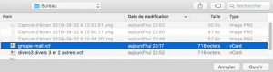 Sélectionner un fichier Vcar