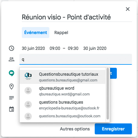 Ajouter des contacts à une réunion Google Meet