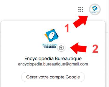 changer l'image de profil google