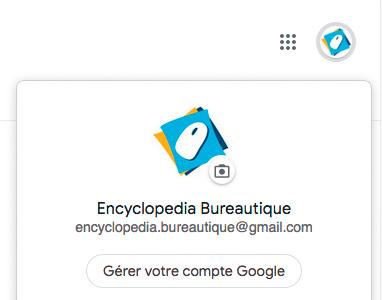 Nouvelle icone du compte Google