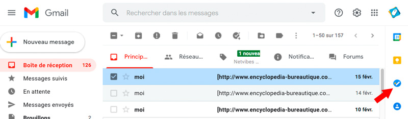 Task dans gmail