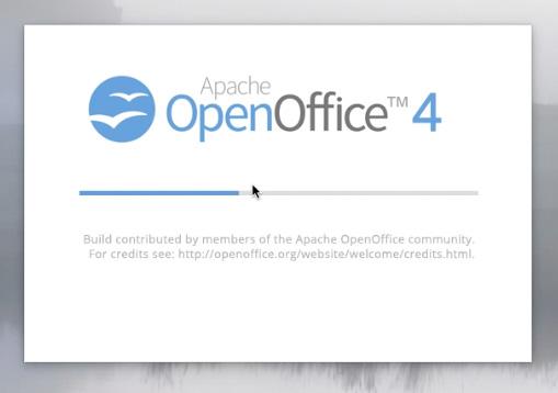 Écran d'installation d'OpenOffice 4