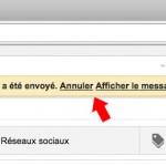 Annuler l'envoi d'un mail gmail