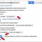 Appliquez un libellé à un email grâce à un filtre Gmail