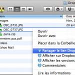 menu partage de fichier
