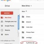Fichier sauvegardé sous Drive