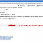 Mail pour télécharger le fichier