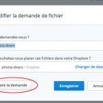Clôturer une demande de fichiers