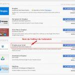 Extension Dropbox pour Gmail