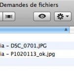 Structure du dossier demande fichier vue sur un ordinateur d'un compte dropbox synchronisé