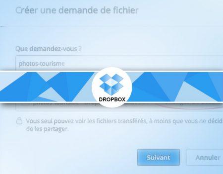 Dropbox : demande de fichiers à vos contacts