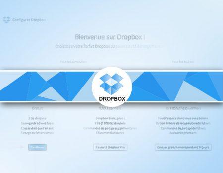 Dropbox gratuit : création et installation