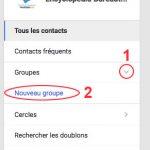 Nouveau groupe de contacts