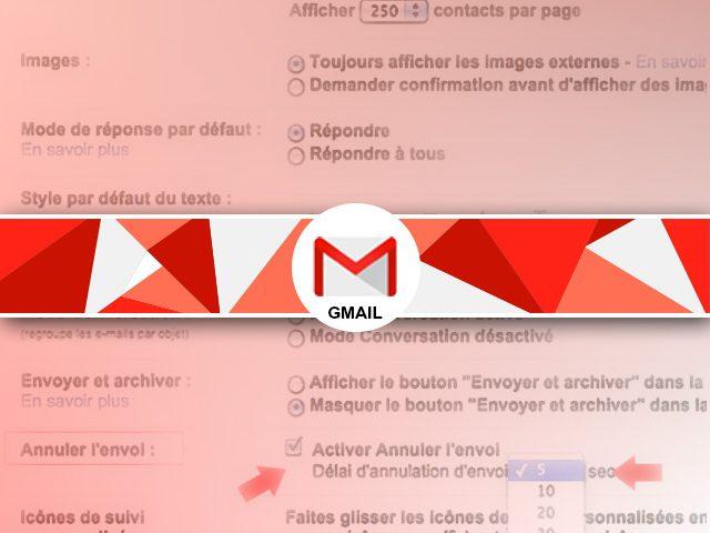 Annuler l'envoi d'un mail sous gmail
