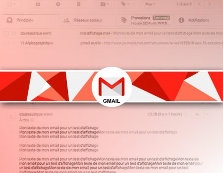 Comment afficher le contenu des messages sous la liste des mails reçus sous gmail ?