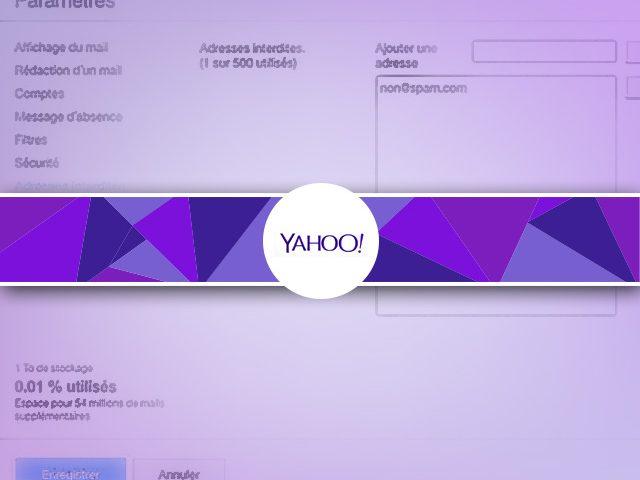 Comment bloquer une adresse email d'un expéditeur sous YahooMail ?