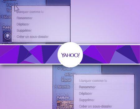 Organiser sa messagerie Yahoo : les dossiers