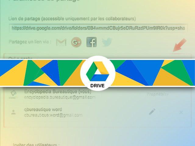 Questions/réponses : droits accès dossier & sous-dossiers partagés sous Google Drive
