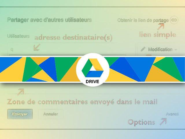 Partage de fichier sous Google Drive