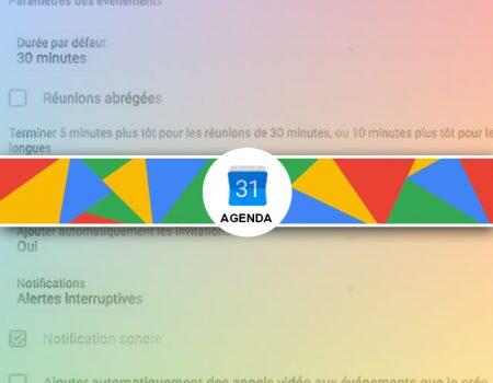 Configuration des préférences de Google Agenda