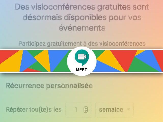 Comment programmer une visioconférence Google Meet réccurente ?