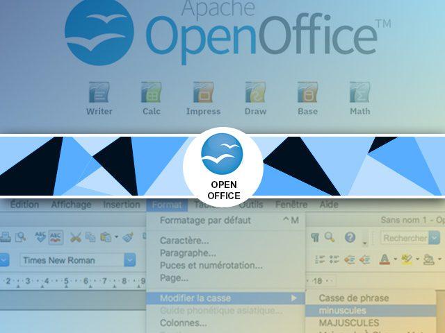 Convertir un texte majuscule en minuscule sous open office 4